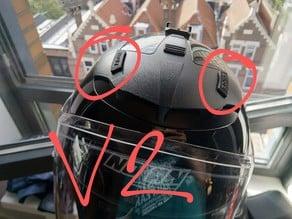 V2 Nolan N44 Motorcycle Helmet Air Vent sliders