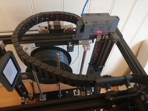 Ender 5 upgrade - Hidden cables - Cable chain