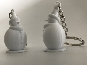 Snowman key holder - Porte clé bonhomme de neige