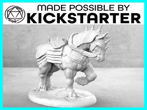 War Horse - Action Pose - Tabletop Miniature