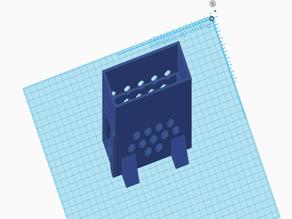 Caja vertical fuente alimentación