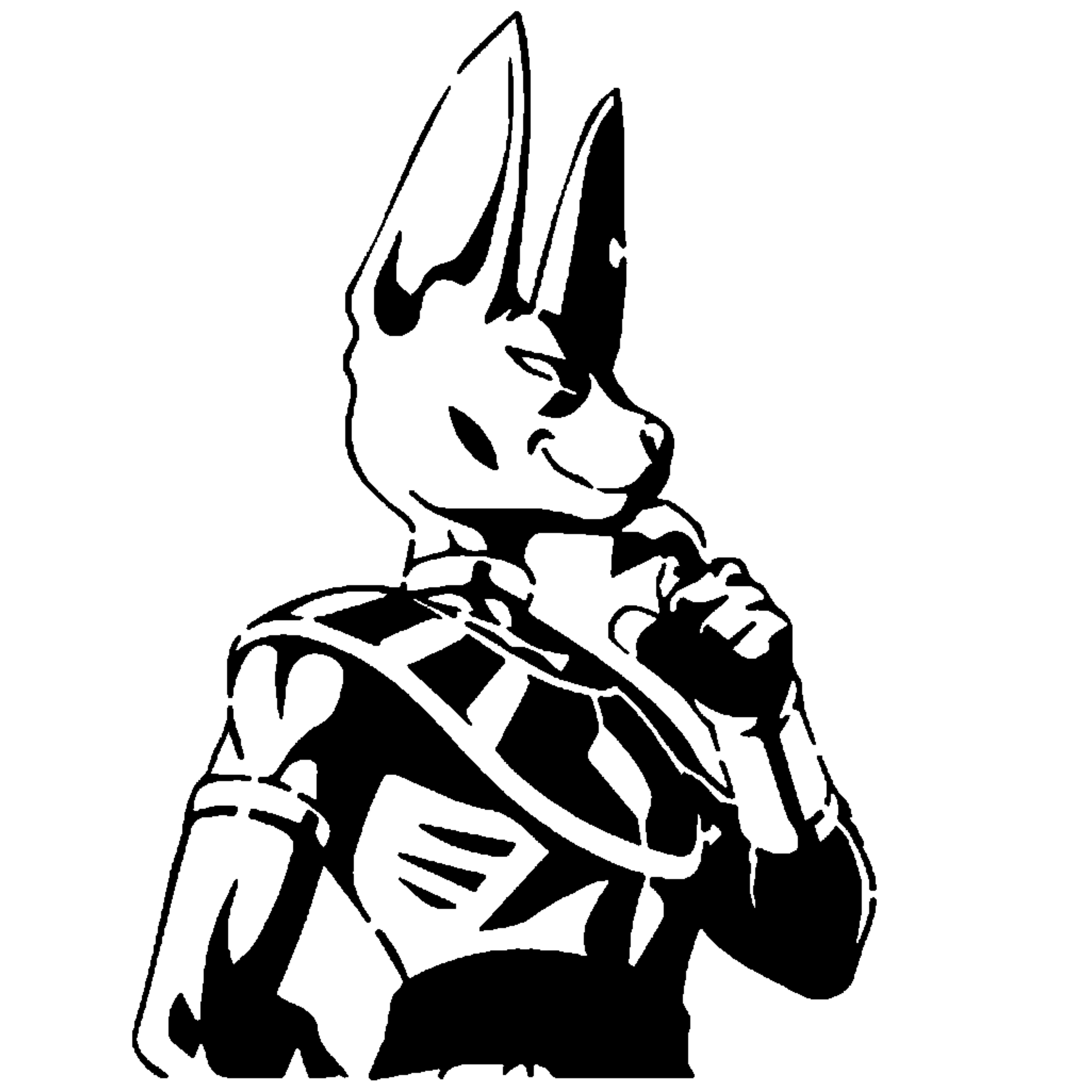 Lord Beerus stencil