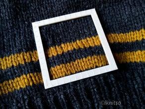 Gauge ruler - metric stitch gauge for knitting samples
