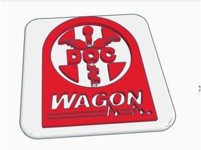 Modular trailer hitch Faceplate -  DocWagon Logo