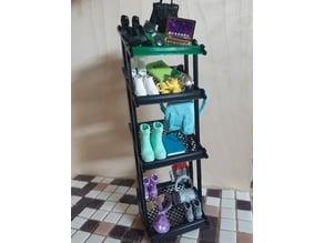 shelf for barbie dollhouse