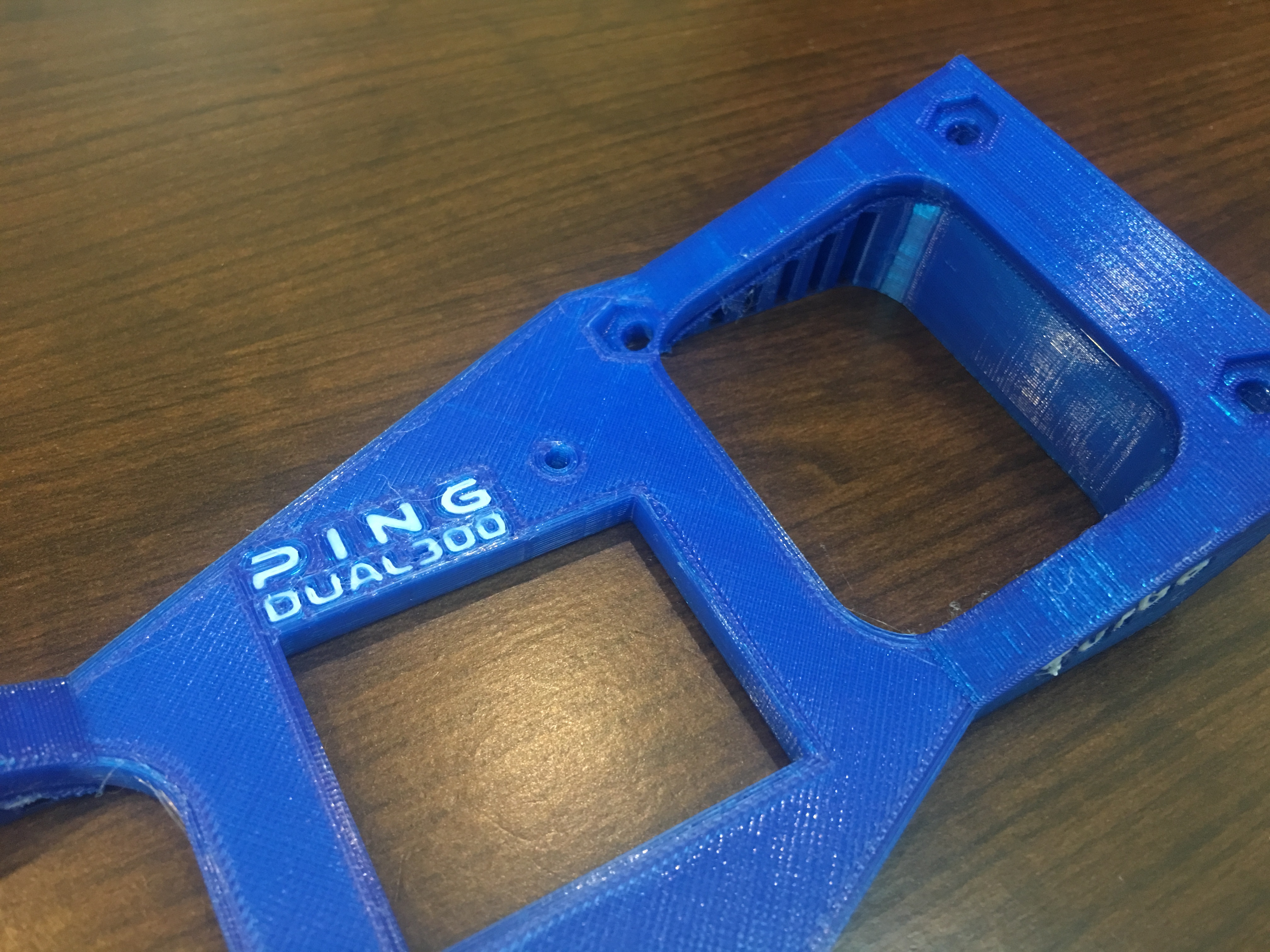 Turbo fan mount and fan duct for Ping DUAL 300 3D printer by