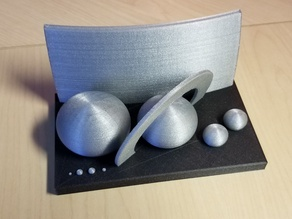 Scale model of the Solar System (remix)