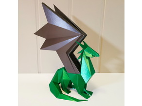 Low poly dragon statue remix