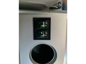 Seat heater switch panel adapter