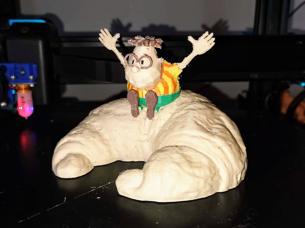 Carl Wheezer on a Croissant