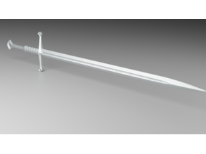 lord of the rings Andúril sword prop