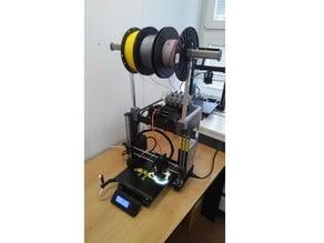 Prusa i3 MK3 MMU2 filament holder and buffer (top load)