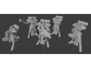 28mm Battle Sisters Support Sisters for Grimdark Future