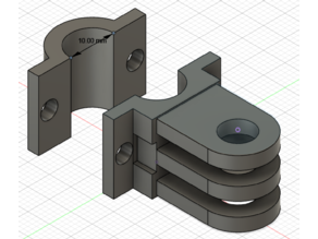 1cm Pipe Clamp with gopro like adapter