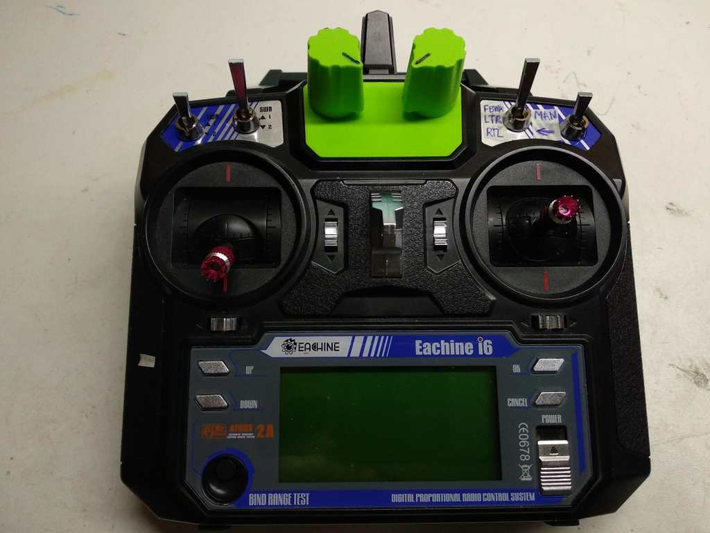 FlySky i6 mode selector mod
