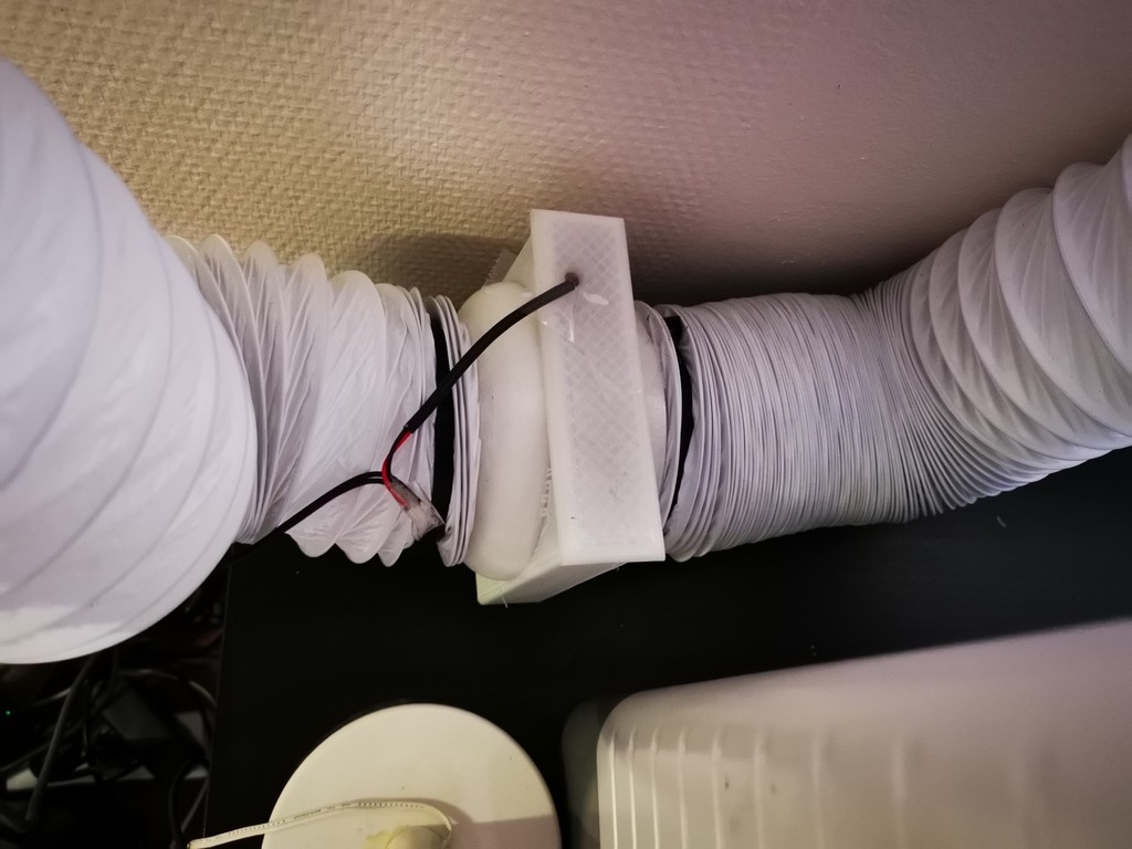 Ventilation box for 120mm fan