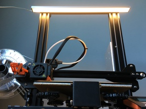 Ender 3 / CR10 IKEA OMLOPP LED light bar mount