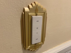 Art Deco Faceplate for Phillips Hue dimmer switch