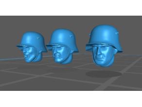 M1916 German WW1 / Polish WW2 helmet heads