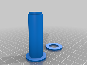 Configurable spool - 2 part to save printing support (with OpenScad)