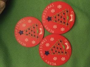 Christmas coasters with box