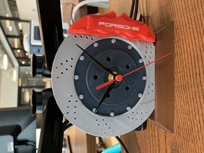 Porsche Disc Brake and Caliper clock