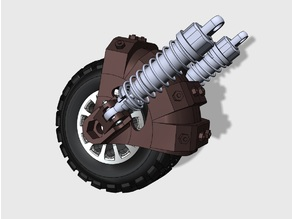 Shock absorber system for outroad wheel