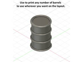 Single Unattached 55 Gallon Barrel -- N Scale