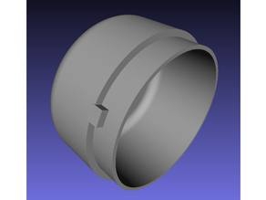 Coffee Grinder Lid Parametric (OpenSCAD) + STL for d68 mm
