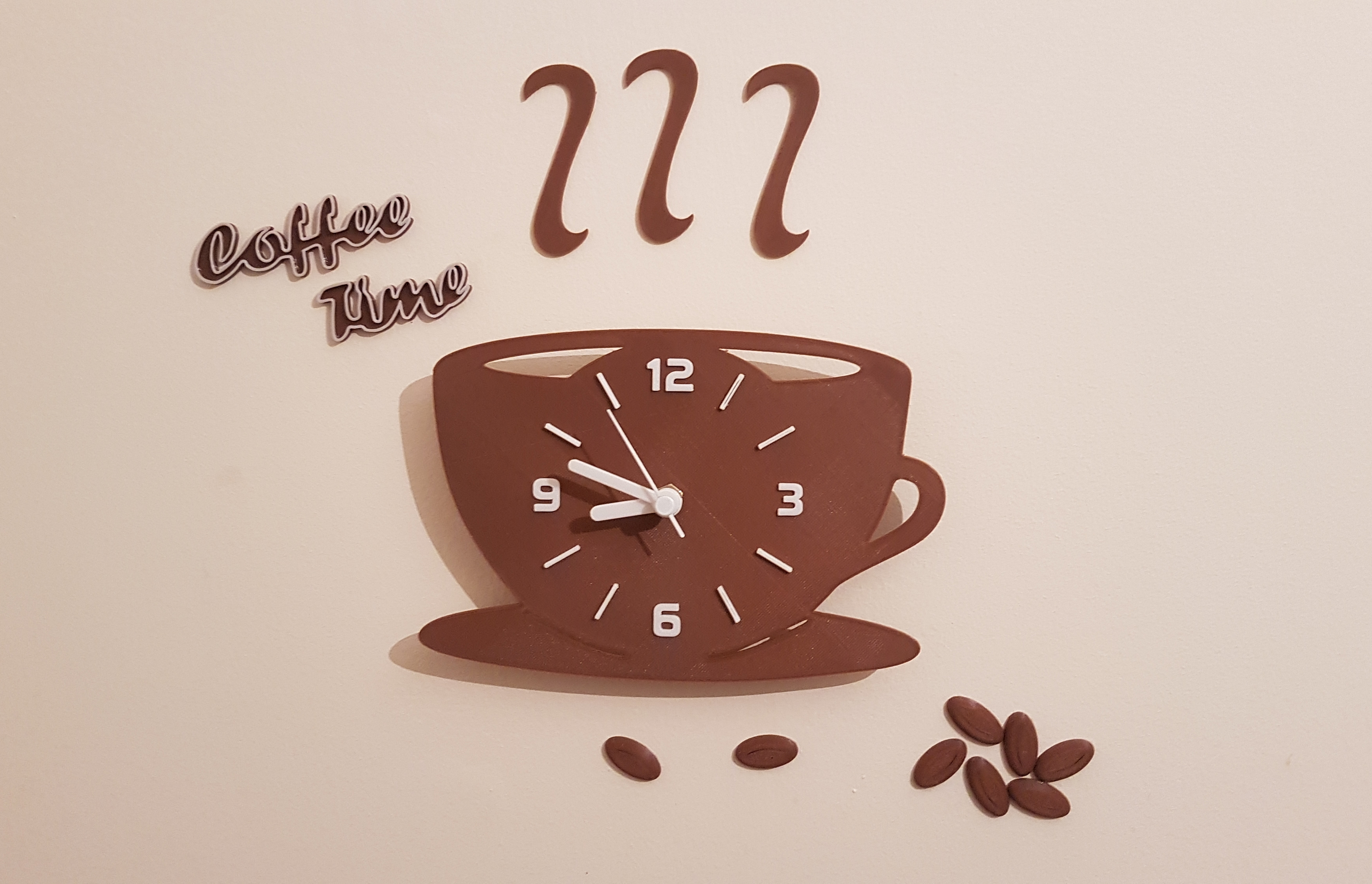Coffee Time Kitchen Clock
