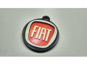 Two-pieces Fiat keychain