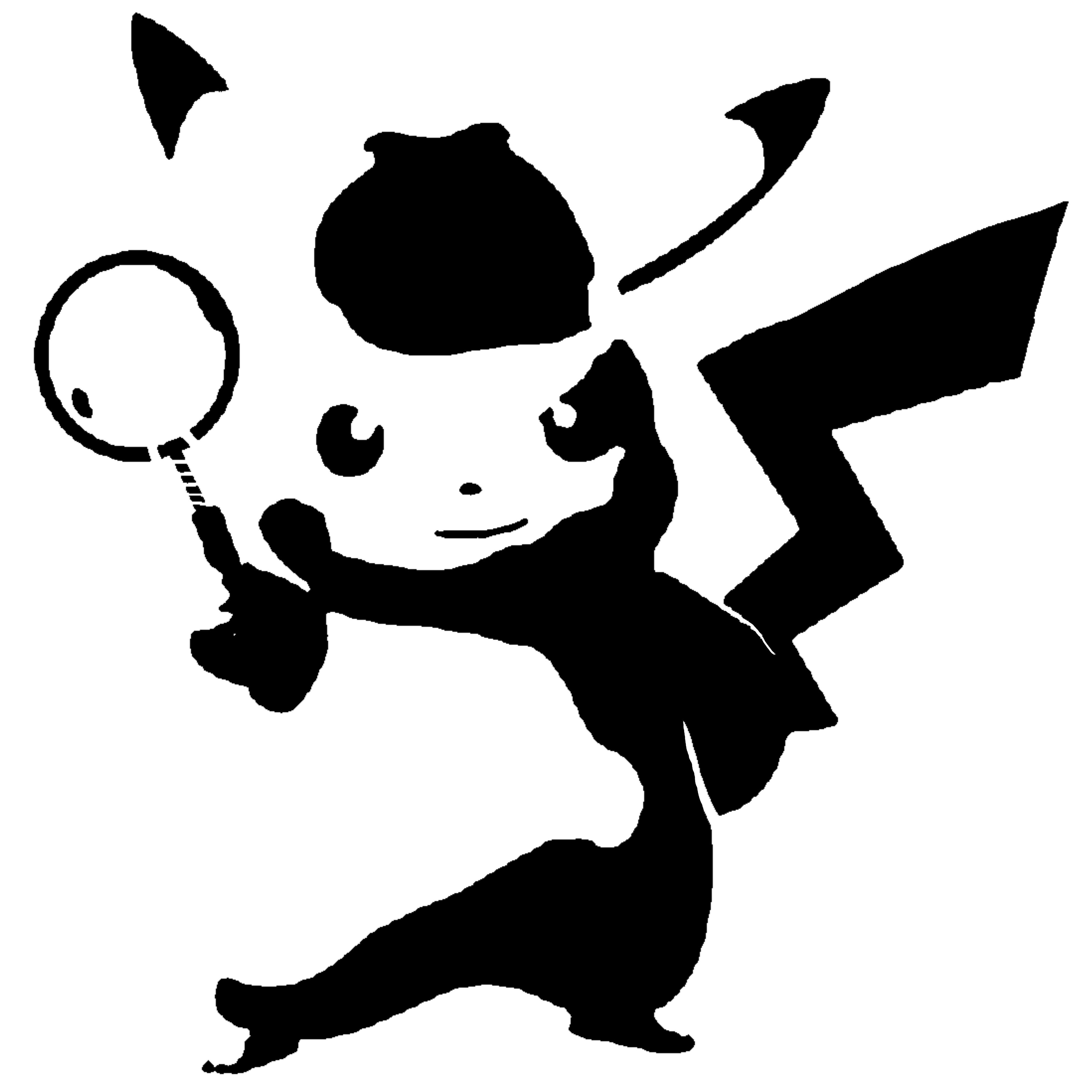 Detective Pikachu stencil