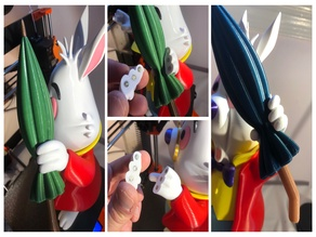 150% White Rabbit Removable Hand with 4x2mm magnets