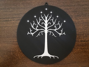 White Tree of Gondor wall plaque - dual extrusion