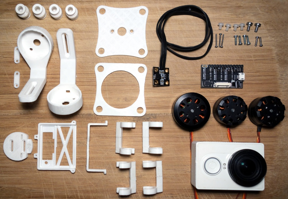 Primbal 3d Printed 3 Axis Brushless Camera Gimbal For