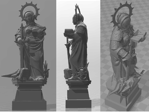 St. Katherine statue - WH40k