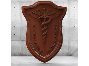 Caduceus for CNC (Medical emblem)