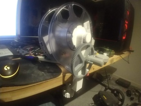 Winder for re-purposing spent filament spools