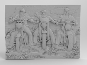 3 Bogatyr bikers For CNC