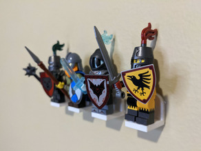 Mount Brick: LEGO® Minifig Compatible Wall Mounts