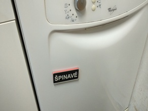 Simple Magnetic CLEAN/DIRTY Dishwasher Indicator