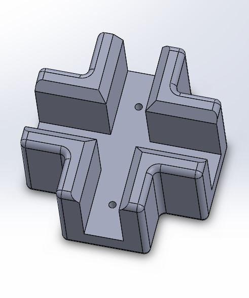 6mm Kreuzverbinder - Cross joint