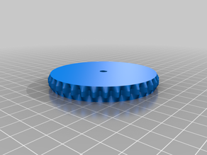 Set of cogs: not full meshing surfaces but axially self locating.