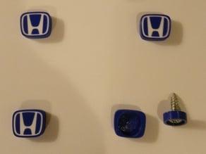 Honda logo license plate screw caps