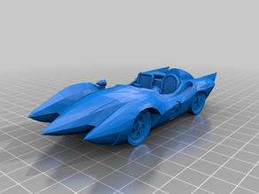 Mach 5 car from Speed Racer cleanup
