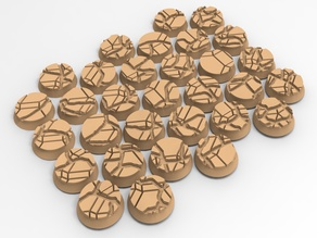 31 Dwarf bases 25mm