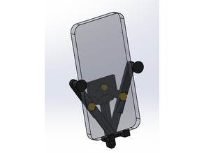Universal car vent phone holder