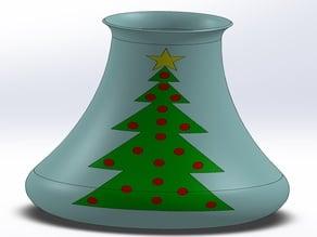 Christmas tree vase - multi material