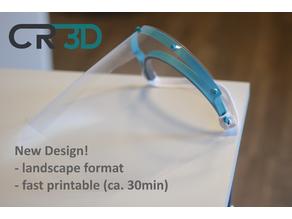 CR-3D Fast printable FaceShield 2nd Gen >German Standard< Din A4 -888-  Landscape Format