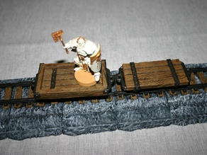28mm D&D Flatbed Mine Wagon